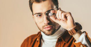 Man examines diamond
