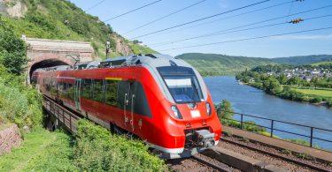 Intercity train in Germany