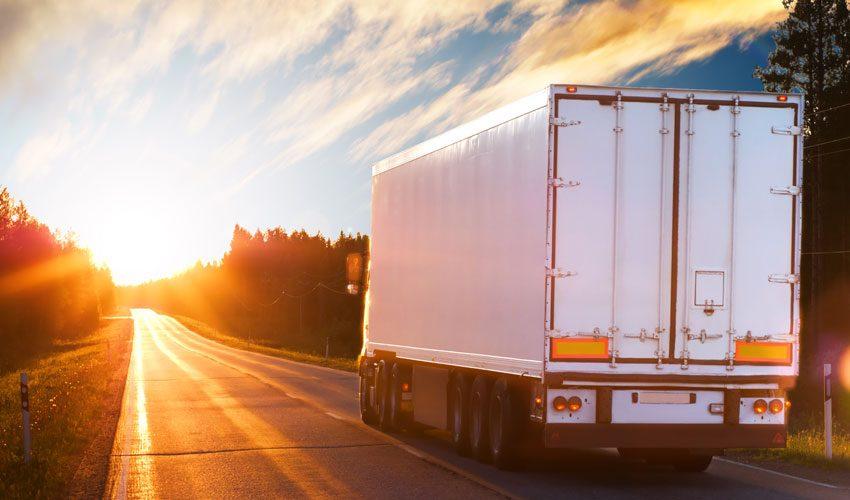 truck at dusk