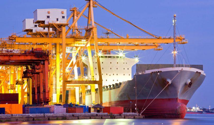 trade container ship