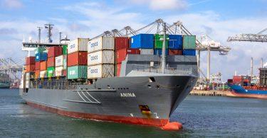 container ship trade port rotterdam