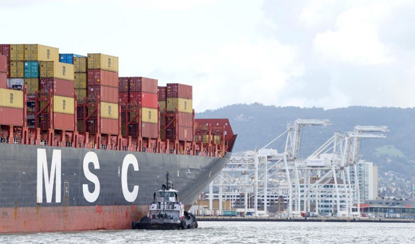 msc shipping container carrier