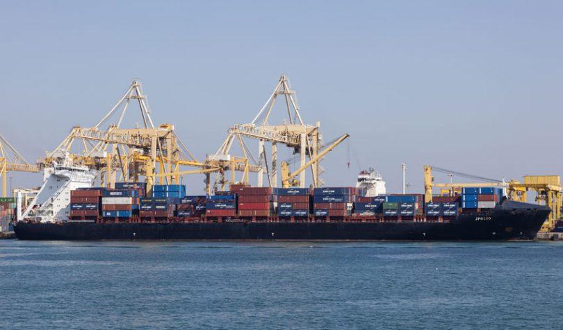container ship uae