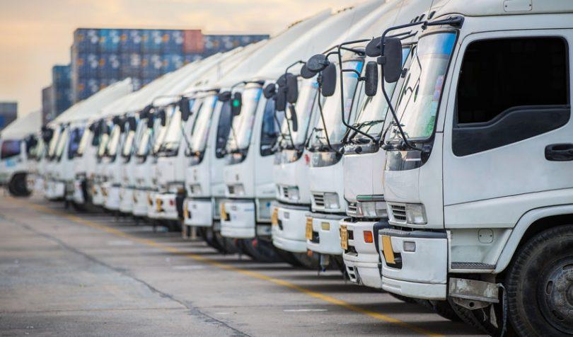 shipping logistics trucks