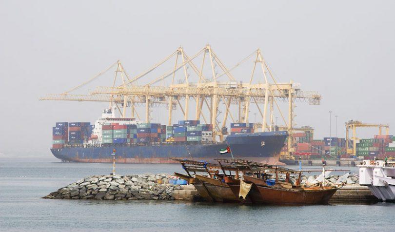 uae trade cargo ship