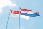 Singapore Netherlands flags
