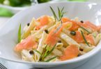 smoked salmon pasta food provenance
