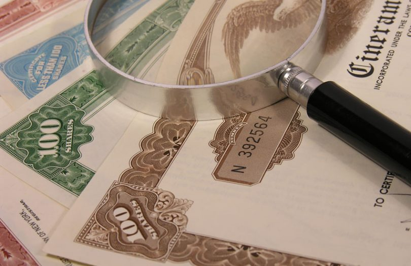 stock certificates shares