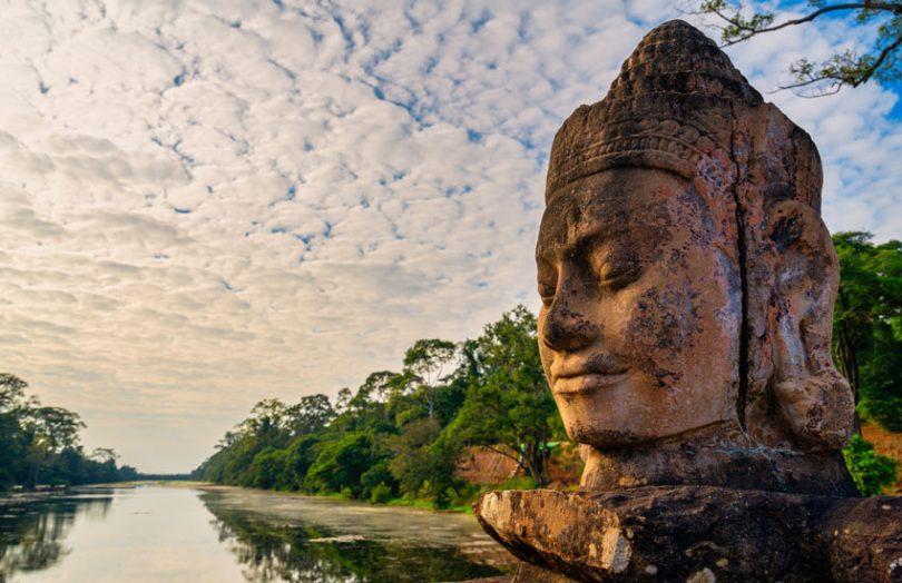 cambodia stone face
