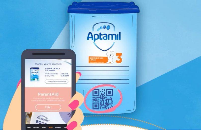 danone aptamil blockchain barcode
