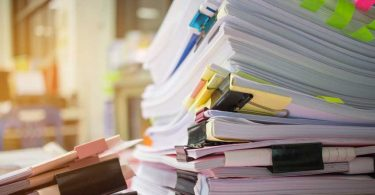 documents papers stack