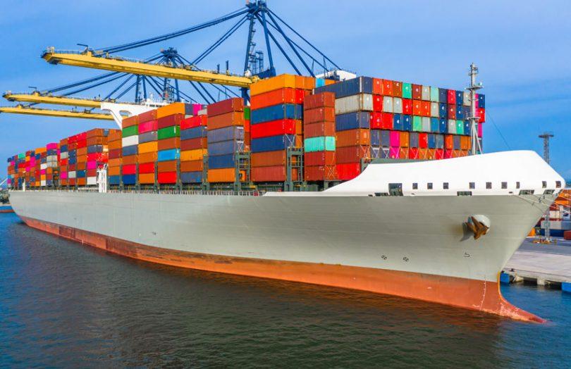 trade container cargo ship