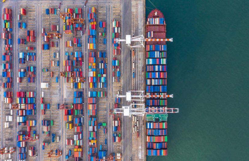 busan port container ship