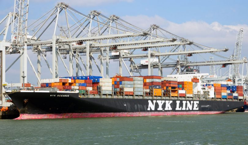 NYK container ship