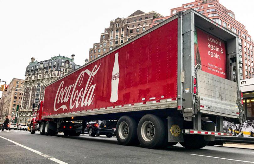 coca cola coke truck