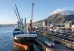 trade container ship cape town south africa