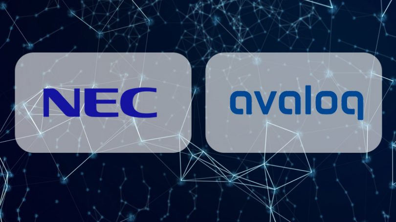 nec avaloq blockchain digital assets