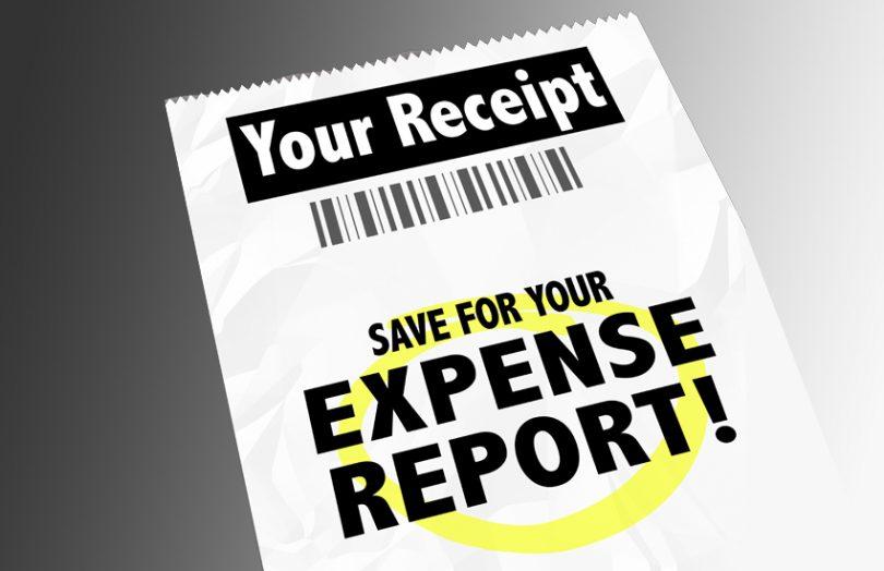 expense reimbursement report receipt