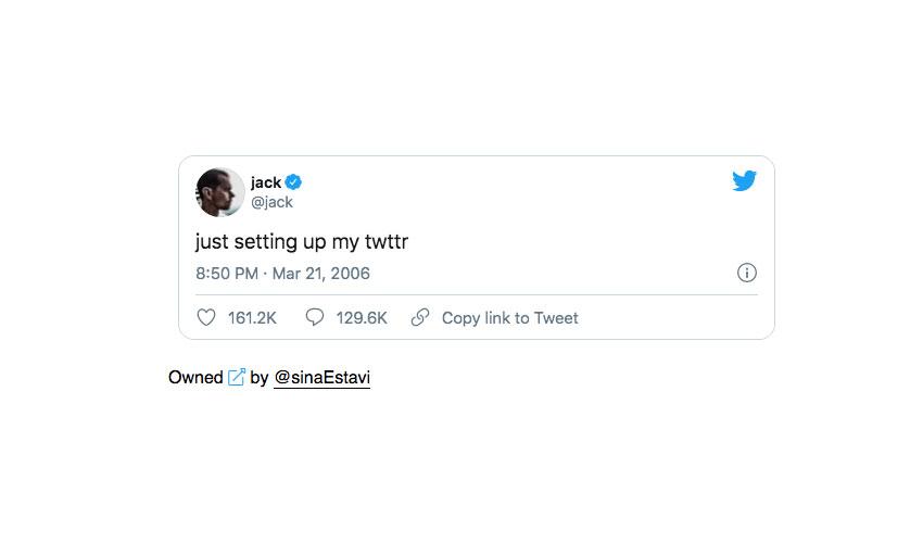 Jack Dorsey sells his first tweet as an NFT for $2.9 million - Ledger  Insights - enterprise blockchain