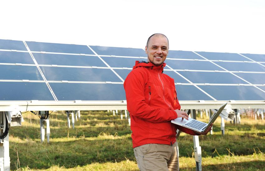 solar power PV installation