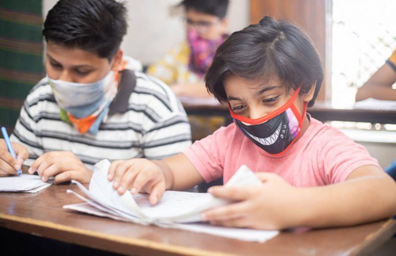 education india students school