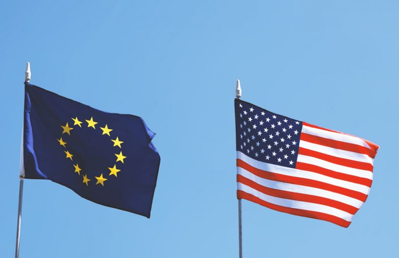 europe united states flags